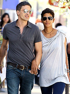 Halle & Olivier's Toast to Each Other (and Love) at Lunch | Halle Berry, Olivier Martinez