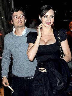 Couples Watch: Orlando Bloom Dotes on Miranda Kerr at N.Y.C. Party | Miranda Kerr, Orlando Bloom