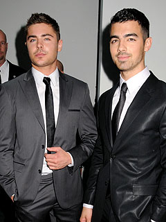 Zac Efron & Joe Jonas Check Out a Vaudeville Show in L.A. | Joe Jonas, Zac Efron