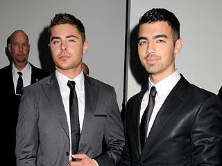 Zac Efron & Joe Jonas Check Out a Vaudeville Show in L.A. | Joe Jonas, Zac Efron