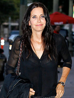 Courteney Cox Shares Wine with Cougar Town Costar Brian Van Holt | Courteney Cox