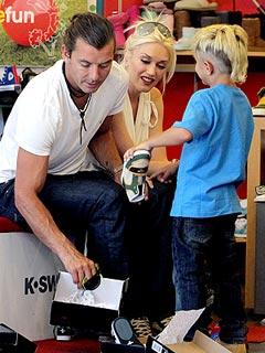 Gwen & Gavin Shop for Stylish Shoes for Their Boys | Gavin Rossdale, Gwen Stefani