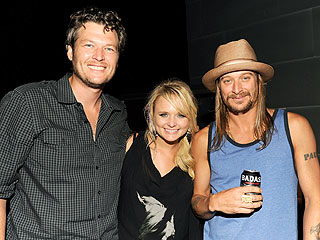 Miranda Lambert & Blake Shelton Sneak in Some Alone Time at Kid Rock's Bash | Blake Shelton, Miranda Lambert