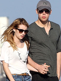 Chord Overstreet & Emma Roberts Cozy Up at Rooftop Bash in L.A. | Chord Overstreet, Emma Roberts