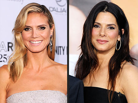 Celeb Sightings: Sandra Bullock, Heidi Klum, Lady Gaga, Mariah Carey