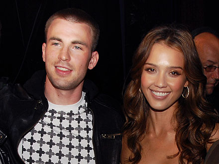Jessica Alba & Chris Evans Party Together in L.A.