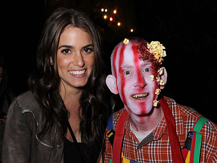 Glee Stars, Nikki Reed Get Spooked at the Haunted Hayride