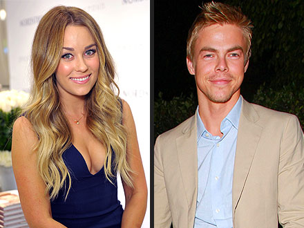 Lauren Conrad & Derek Hough Kiss on the Dance Floor