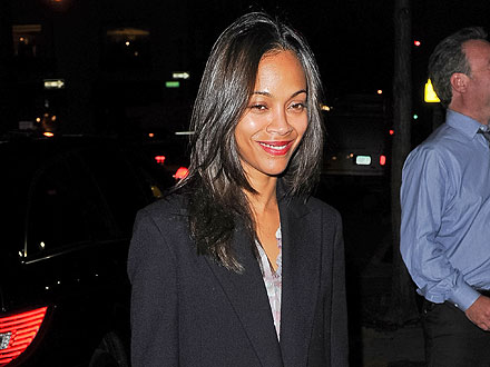 Zoe Saldana Downs Oysters and Dances in Manhattan