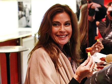 Teri Hatcher Eats a Spicy Sausage in Germany