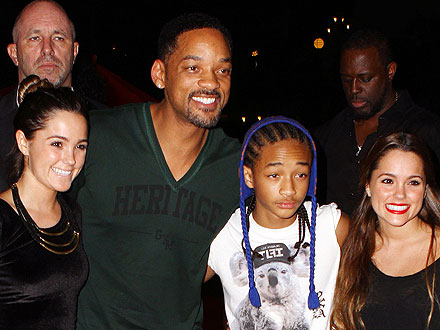 Will Smith Takes Son Jaden to the Kanye & Jay-Z Concert