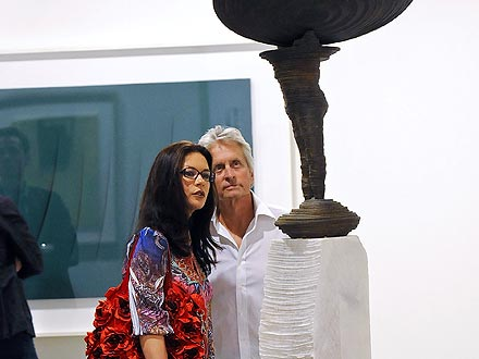 Catherine Zeta-Jones & Michael Douglas Check Out Miami's Art Scene | Catherine Zeta-Jones, Michael Douglas