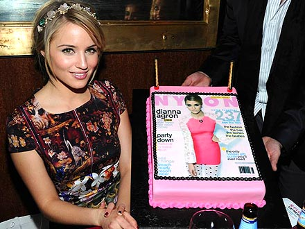 Dianna Agron Enjoys a Dinner Party in Her Honor | Dianna Agron