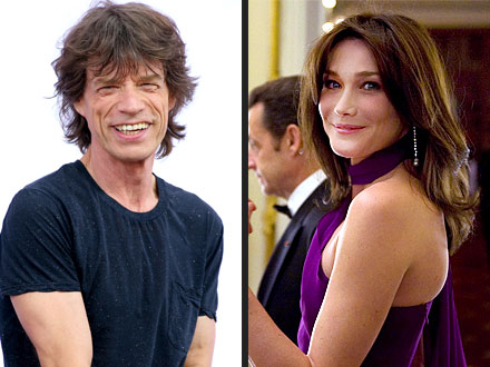 Carla Bruni-Sarkozy Has a Run-In with Her Ex: Mick Jagger! | Mick Jagger