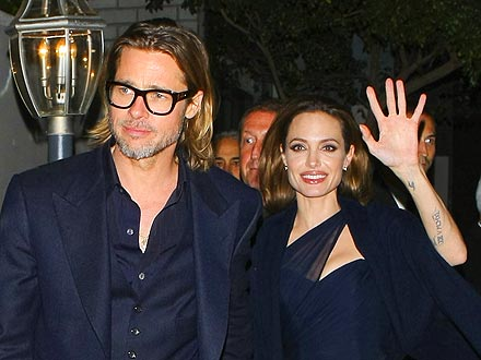 Brad & Angelina's Celebratory Dinner in L.A.