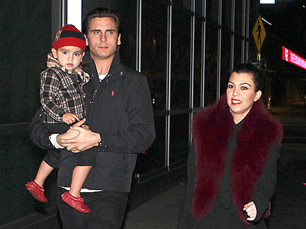 Kourtney & Scott Take Mason to See Disney on Ice