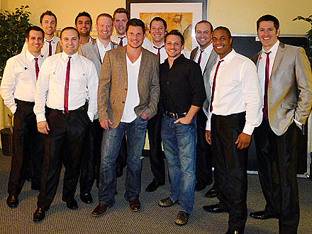 Nick Lachey Checks Out an A Capella Concert