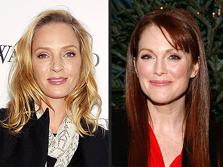 Julianne Moore & Uma Thurman Party Together in N.Y.C. | Julianne Moore, Uma Thurman