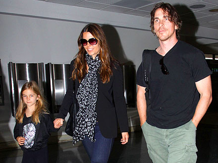 Christian Bale Takes His Family to Cirque du Soleil