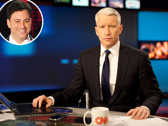 photo | Anderson Cooper, Jimmy Kimmel