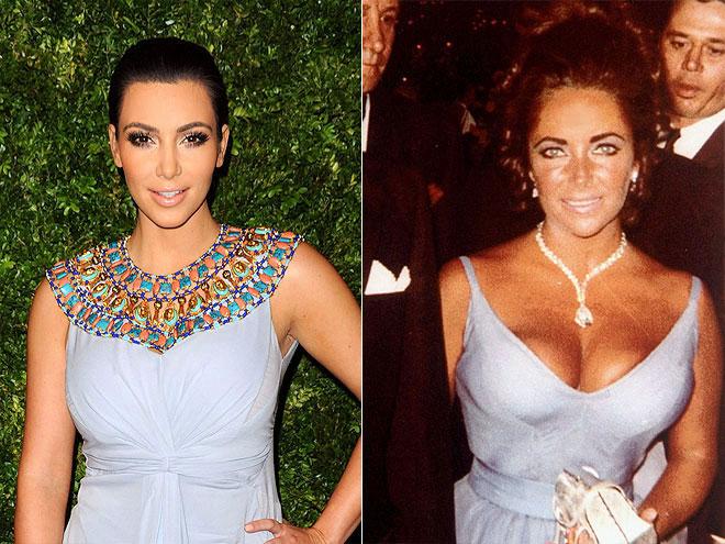 photo | Elizabeth Taylor, Kim Kardashian