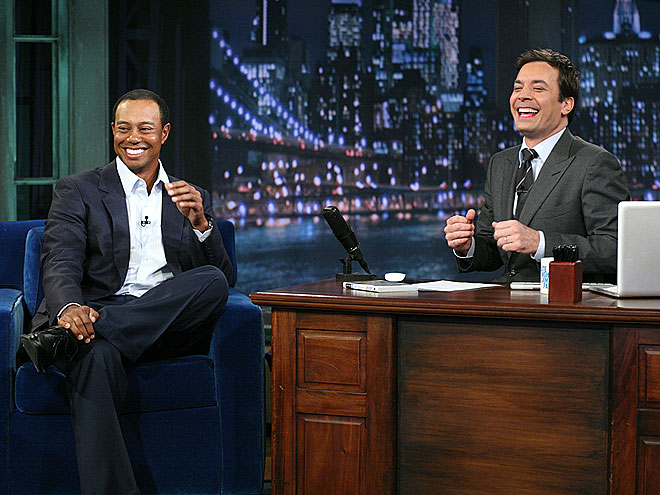 photo | Jimmy Fallon, Tiger Woods