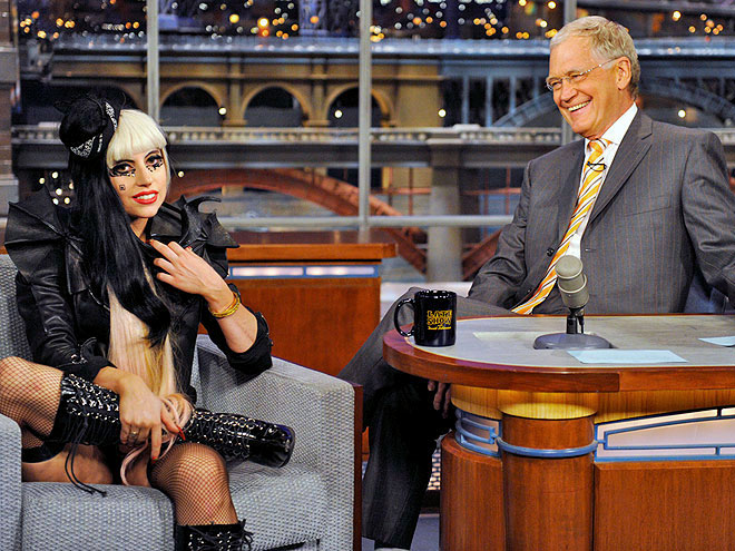 photo | David Letterman, Lady Gaga