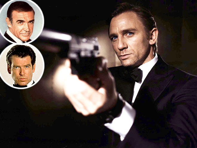 photo | Daniel Craig, Pierce Brosnan, Sean Connery
