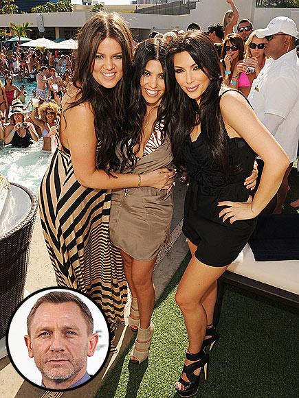 photo | Daniel Craig, Khloe Kardashian, Kim Kardashian, Kourtney Kardashian