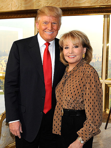 photo | Barbara Walters, Donald Trump