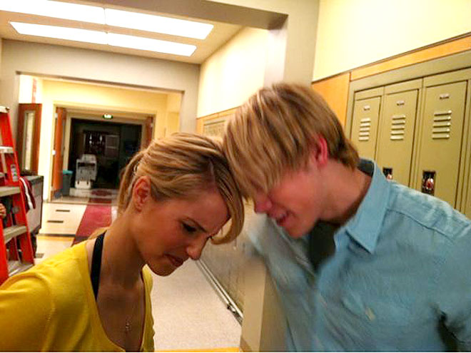 Dianna Agron And Chord Overstreet Instagram