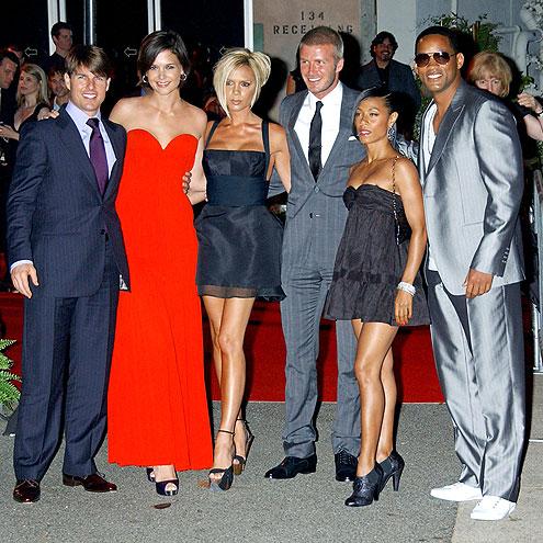 A-LIST CROWD  photo | David Beckham, Jada Pinkett Smith, Katie Holmes, Tom Cruise, Victoria Beckham, Will Smith