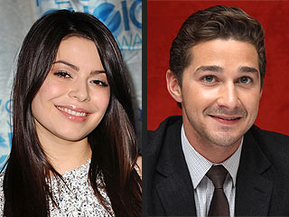 Shia LaBeouf, Miranda Cosgrove, New Year's kiss