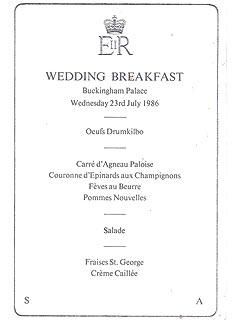 Princess Diana's Chef Predicts the Royal Wedding Menu| Weddings, Kate Middleton, Prince Edward, Prince William, Princess Diana