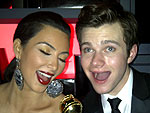 Kim Kardashian Gleeks Out at Golden Globes