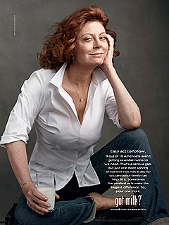 PHOTO: Susan Sarandon's 'Got Milk?' Ad | Susan Sarandon