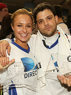 Hayden Panettiere, Jerry Ferrara Score at Celeb Super Bowl | Hayden Panettiere, Jerry Ferrara
