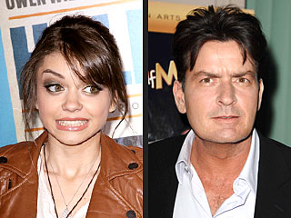Sarah Hyland 'Creeped Out' by Charlie Sheen on Twitter