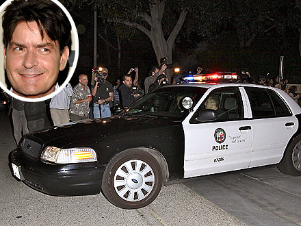Charlie Sheen Police Search