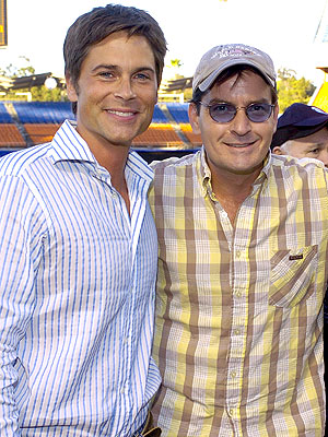 Rob Lowe Gets Charlie Sheen Endorsement for Two and a Half Men