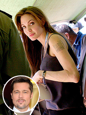 Angelina Jolie (Finally) Confirms Latest Tattoo Is for Brad Pitt | Angelina Jolie, Brad Pitt