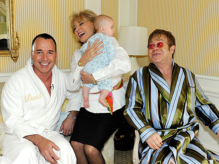 Elton John, David Furnish Fedex Breast Milk to Son