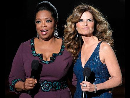 Maria Shriver at Oprah Winfrey Taping