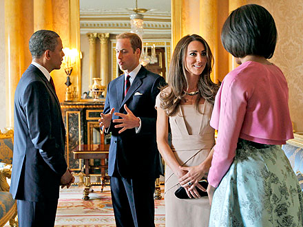 William & Kate Welcome Obamas to the U.K. | Barack Obama, Kate Middleton, Michelle Obama, Prince William
