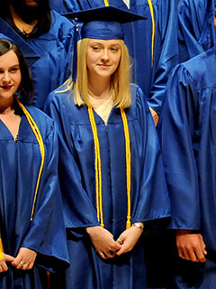 Congrats! Dakota Fanning Graduates High School