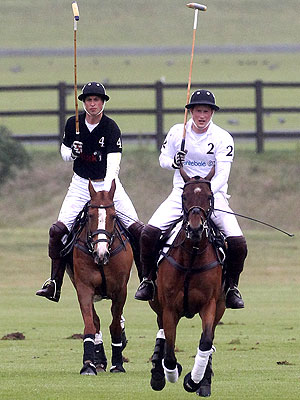 Prince William and Prince Harry Play Polo