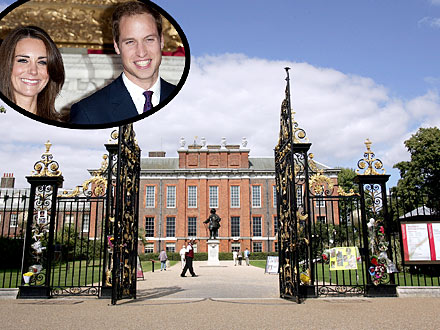 kate and william photos. William and Kate Find a London Home. Kensington Palace; the Duchess and Duke of Cambridge (inset). Gareth Cattermole/Getty; Inset: REX USA