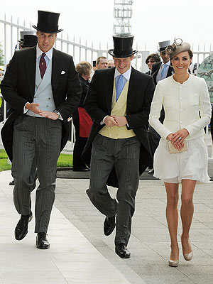 Prince William, Kate Middleton, Prince Harry at Epsom Derby