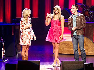 Carrie Underwood Introduces New Idols to the Grand Ole Opry | Carrie Underwood, Lauren Alaina, Scotty McCreery