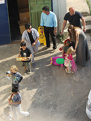 Angelina Jolie Takes the Kids Toy Shopping in Malta